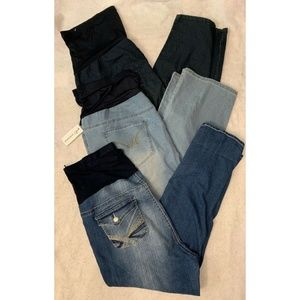 Lot Of 3 Women's Maternity Jeans Sz 3X Blue